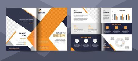 Business bifold brochure design template vector