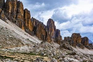 Clouds above rock formations photo