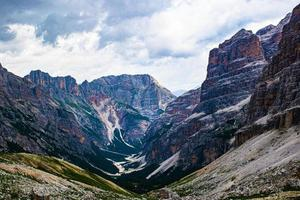 Valley in the Dolomite mountains photo