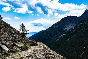 Path between mountains photo