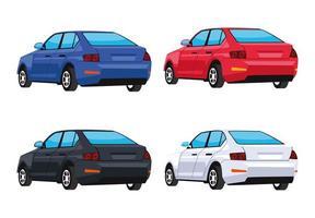 bundle four cars vector