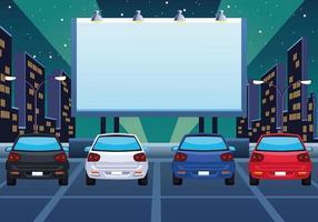 autocinema and cars vector