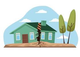 earthquake natural disaster vector