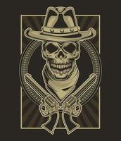 cowboy and guns vector
