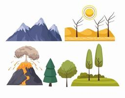 natural disasters elements vector