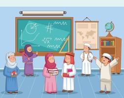 arabic students group vector