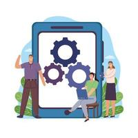 business people technology vector