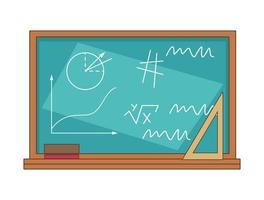 school chalboard icon vector