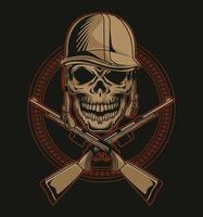 skull and rifles vector
