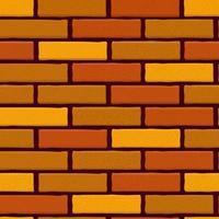 Brick Wall Seamless Vector Illustration Background