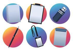 bundle of six mockup branding elements icons vector