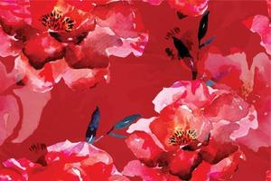 Rose seamless pattern with watercolor 27 vector