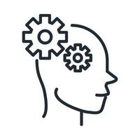 alzheimers disease neurological brain cognition line style icon vector