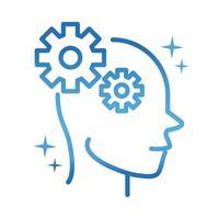 alzheimers disease neurological brain cognition gradient line icon vector