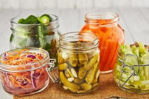 Fermented preserved vegetarian food concept photo