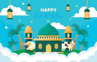 Eid Adha Celebration Concept vector