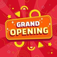 Re Opening Business Background vector