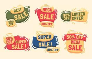 Sale Business Label Badge Collections vector
