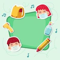 Back to School in New Normal Background vector