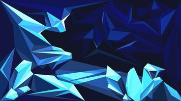 Cave with sapphires vector
