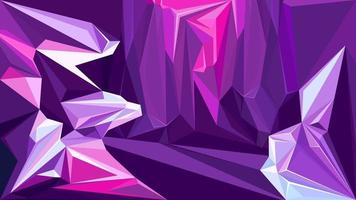 Cave with amethysts vector