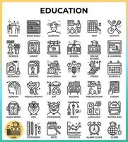 Education  Learning pixel perfect outline icons vector