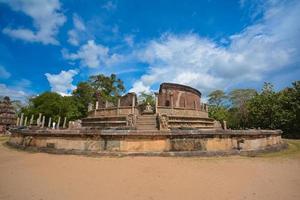 Ancient watadagaya ruins at Polonnaruwa, Sri Lanka. photo