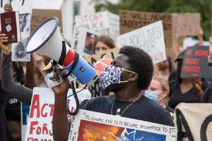United States, 2020 - Protester with megaphone photo