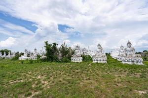 White Buddha in Thailand photo