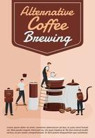 plantilla de vector plano de cartel de elaboración de café alternativo