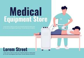 Medical equipment store banner flat vector template