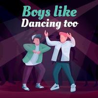 Free dance social media post mockup vector