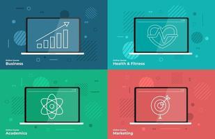 Online course vector set
