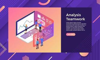 Isometric Analysis teamwork vector