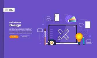 Online course education vector