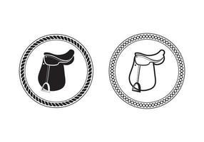 ilustración de diseño de silla de caballo de polo vector