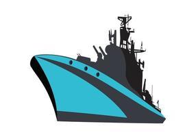 Military ship, cruiser, naval ship, warship design illustration vector