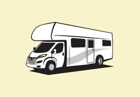 RV Recreational Vehicle design vector