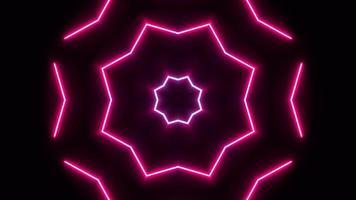 Abstract Pink Neon VJ Loop Background video