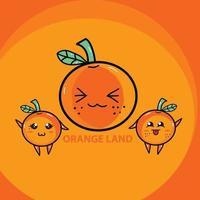 orange land vector illustration
