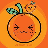 cute orange fresh vector illustration