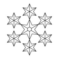Simple illustration of winter snowflake for Christmas holiday vector