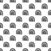 Rainbow seamless pattern. Black and white digital paper vector