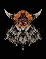 viking head black vector design