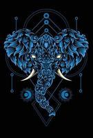 illustration elephant head vector design