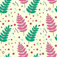Rowan leaves seamless pattern. Botanical seamless pattern with plant elements. Vector illustration