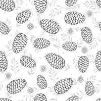 Seamless botanical hand drawn vector background