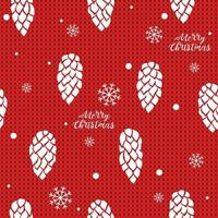 Cones and snowflakes on knitted background Seamless hand drawn vector background Ideal for greeting cards backgrounds holiday decor fabric and phone case