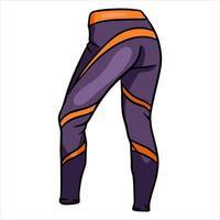 leggings deportivos para fitness y ropa deportiva deportiva leyendas deportivas estilo de dibujos animados vector