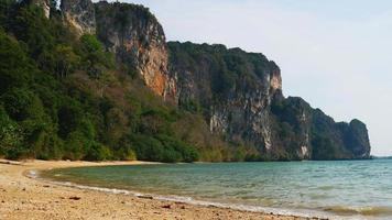 Summer Tropical Sandy Beach Railay with Limestone Cliffs video